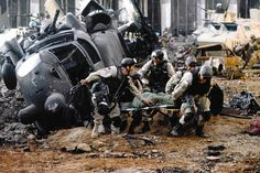 """Black Hawk Down"" movie still, 2001."