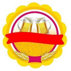 Montando minha festa: Boteco rosa Logo Aniversario, Beer Label, Cupcake Toppers, Clip Art, Plates, Chocolate, Tableware, Party, Food