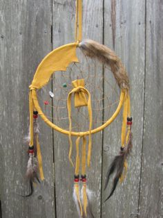 Large 6 Deer Hide Dream Catcher Authentic by WhiteBuffaloNaturals, $24.00