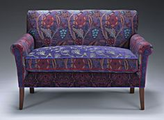 Salon Settee in Concord: Mary Lynn O'Shea: Upholstered Settee - Artful Home