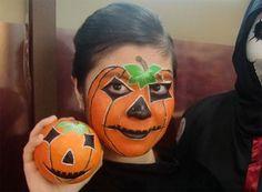 Trucco di Halloween per bambini da zucca horror