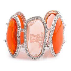 Miriam Salat   Cuffs   Orange Nugget Link Bracelet