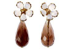 Fleurette Earrings, Opaline on OneKingsLane.com