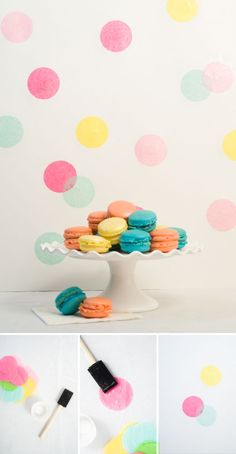 """strawberry party supplies Confetti Sunshine: DIY Confetti Backdrop Photo 7 of Strawberry Shortcake and Strawberries / Birthday """"Faith's . Lose Yourself, Diy Backdrop, Photo Booth Backdrop, Diy Décoration, Diy Crafts, Décoration Baby Shower, Diy Confetti, Paper Confetti, Confetti Wall"""