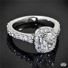 Custom Cushion Halo Diamond Engagement Ring | 37101