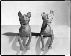 Lion finials or legs for a vessel Iran 12th century