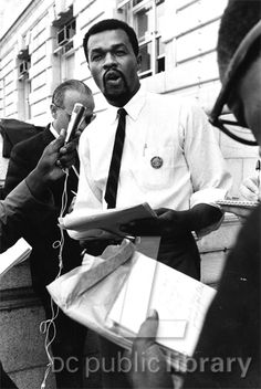 Marion Barry announces creation of Free DC to work for DC home rule, 1966.  And then he started smoking crack....oops!