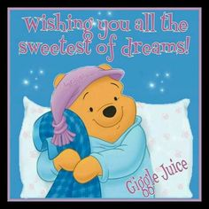 Wishing you all the sweetest of dreams.