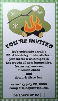 Free Printable Camping Invitations as luxury invitations example