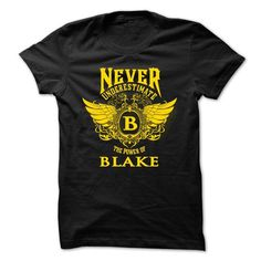 Never Underestimate-The power of Blake - #shirt for women #oversized shirt. GET YOURS => https://www.sunfrog.com/Names/Never-Underestimate-The-power-of-Blake-32078614-Guys.html?68278