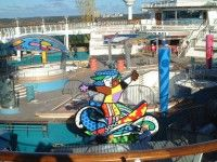 """Romero's Britto """"All For Fun""""  Pool Deck, Mariner of the Seas, Royal Caribbean Cruise.. Learn more about Romero Britto and Florida (The Sunshine State) at: www.floridanest.com"""