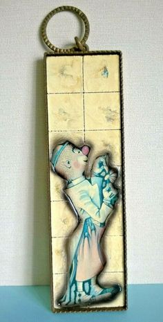 Vintage Ceramic Glazed Wall Tile - Clown in Metal Frame Found in France Ref 719 Ceramic Decor, Ceramic Art, Frames On Wall, Framed Wall Art, Glazed Walls, Heart Wall, Wall Art Pictures, Blue Art, Glazed Ceramic