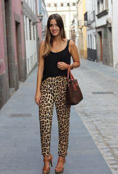leopard print pants outfit - Αναζήτηση Google