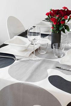 Sivulause fabric grey 3 by Tanja Orsjoki