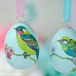 Decoupage bird eggs. Easter decorations ideas with tutorials