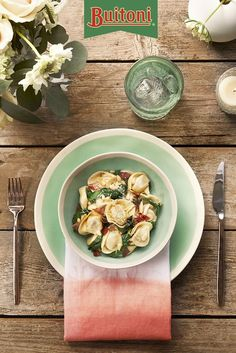 Try this recipe next time you have friends over. Chicken & Roasted Garlic Tortelloni paired with savory pancetta is sure to be a hit.