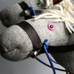 Stick Horse DIY {Toys} Tip Junkie (has so many great craft/DIY ideas) links to Light Blue Grey for tutorial.