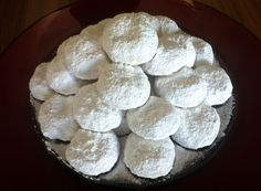 Traditional Kourampiedes (Greek Christmas Butter Cookies) - My Greek Dish Greek Sweets, Greek Desserts, Greek Recipes, Melomakarona Recipe, Greek Christmas, Christmas Sweets, Christmas Cookies, Xmas, Cypriot Food