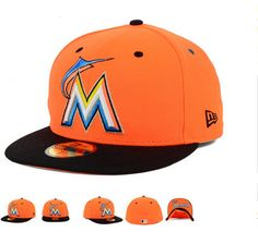 Florida Marlins New Era MLB Team Underform Cap Hats Fitted Hats cheap for  sale de6c7adc8ab
