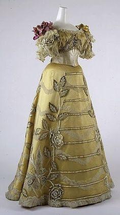 c.1889 Evening Dress -The Metropolitan Museum of Art
