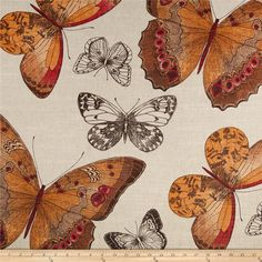 Renaldi Madame Butterfly Sunset Fabric (Expensive!)