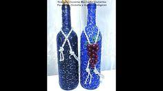 Decoración de botellas de vino o de cerveza. DIY. How to decorate wine bottles