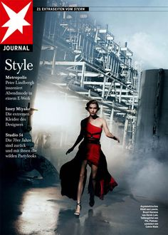 Arizona Muse in Factory Girl for Stern Magazine May '11 - titles