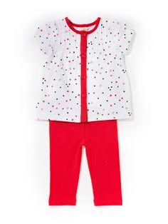 Stars Hearts & Dots Tunic Set by Absorba at Gilt