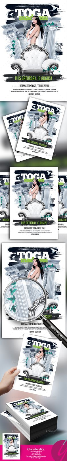 Toga Madness Flyer - Clubs & Parties Events