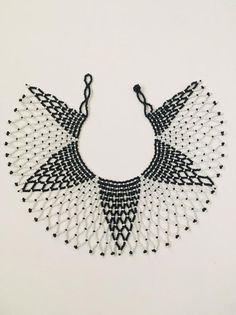 Zulu beaded lace necklace handmade necklace tribal necklace | Etsy Lace Necklace, Tribal Necklace, Seed Bead Patterns, Beading Patterns, Zulu Women, Handmade Necklaces, Handmade Gifts, Beading Tutorials, Jewellery Making