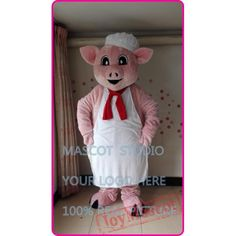 Pink Pig Chef Mascot Costume Pig Costumes, Mascot Costumes, Goofy Dog, Adult Children, Black Panther, Cartoon, Pink, Hot Pink, Cartoons
