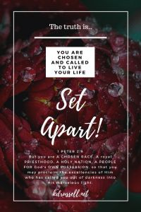 Chosen & Set Apart – God is within her Biblical Quotes, Religious Quotes, Faith Quotes, Biblical Womanhood, Bible Quotes, Bible Verses, Royal Priesthood, Choose Quotes, Christian Women Quotes