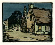 Cottage-Melrose-Scotland by William Seltzer Rice, ca. 1920