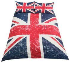 Living Union Jack Duvet Set, Double - eclectic - duvet covers - Argos