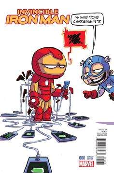Invincible Iron Man #6 variant cover by Skottie Yong