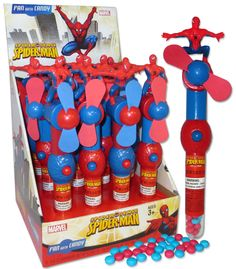Spiderman Candy Fan (Display)
