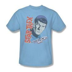 Star Trek Vintage Spock Animated Portrait Youth Ladies Jr Women Men T-shirt Top Star Trek Shirt, Star Trek Spock, Classic T Shirts, Graphic Tees, Tee Shirts, Menswear, Cool Stuff, Retro, Mens Tops