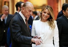 During the tour, the Duke of Edinburgh showed her the royal collection of Mexican memorabilia