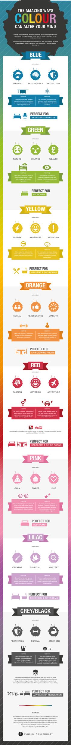 The Amazing Ways Colour Can Alter Your Mind - @visualistan