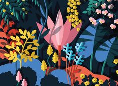 Colorful illustration by Kiki Ljung