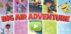 Play Free Online Disney Junior: Big Air Adventure Game in freeplaygames.net! Let's click and play friv kids games, play free online Disney Junior: Big Air Adventure game. Have fun! Doc Mcstuffins Birthday Party, Frozen Birthday Party, Birthday Games, Birthday Party Favors, 2nd Birthday, Pbs Kids Games, I Spy Games, Games For Toddlers, Mickey Mouse Parties
