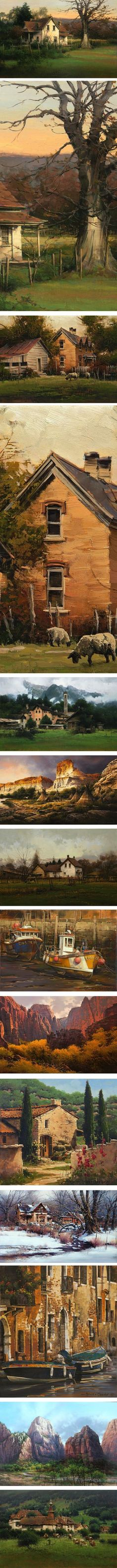 After many years as a successful illustrator, Bruce Cheever changed his focus to gallery art, bringing his admiration for Renaissance art, American Tonalism, Luminism, and Western artists like Thomas Moran to his portrayals of the American West and Southwest, as well as his travels in Italy and other parts of Europe.