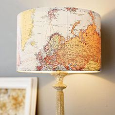 Things you can make with old maps. DIY ideas for old maps. Creative ways to use old maps in crafts and art. Diy Inspiration, Old Maps, Project Nursery, Lamp Shades, Light Shades, My New Room, Pottery Barn, Home Remodeling, Bedroom Remodeling