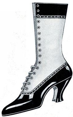 Printable Vintage Shoe