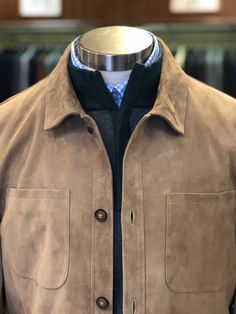 34e87fe0b7ede A present with presence. The  petermillar suede shirt jacket combines the  nature of a