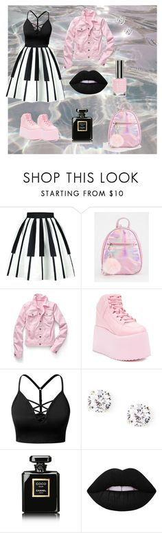 """Без названия #7"" by seyidli-mehri ❤ liked on Polyvore featuring WithChic, Talbots, Y.R.U., J.TOMSON, Chanel, Lime Crime and Topshop"