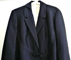 French Vintage Midnight Blue Silk Coat by bOmode on Etsy