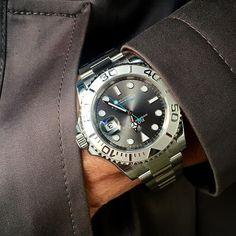 Shades in grey YACHTMASTER 40 rhodium dial Ref 116622 | http://ift.tt/2cBdL3X shares Rolex Watches collection #Get #men #rolex #watches #fashion