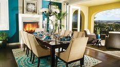 How To Design Home Interior - Decoration Elegant Dining Room, Luxury Dining Room, Beautiful Dining Rooms, Dining Room Design, Patio Design, Dining Room Furniture, Furniture Ideas, House Furniture, Kitchen Design