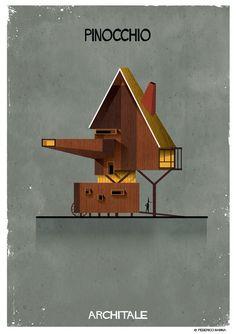 意大利插畫家 Federico Babina 用建築表達出 17 個童話故事 » ㄇㄞˋ點子